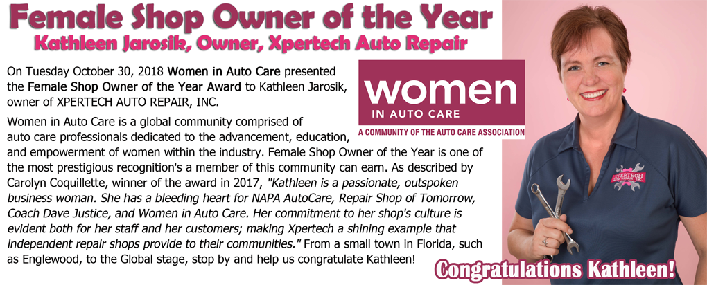 Female Shop Owner of the Year Award to Kathleen Jarosik